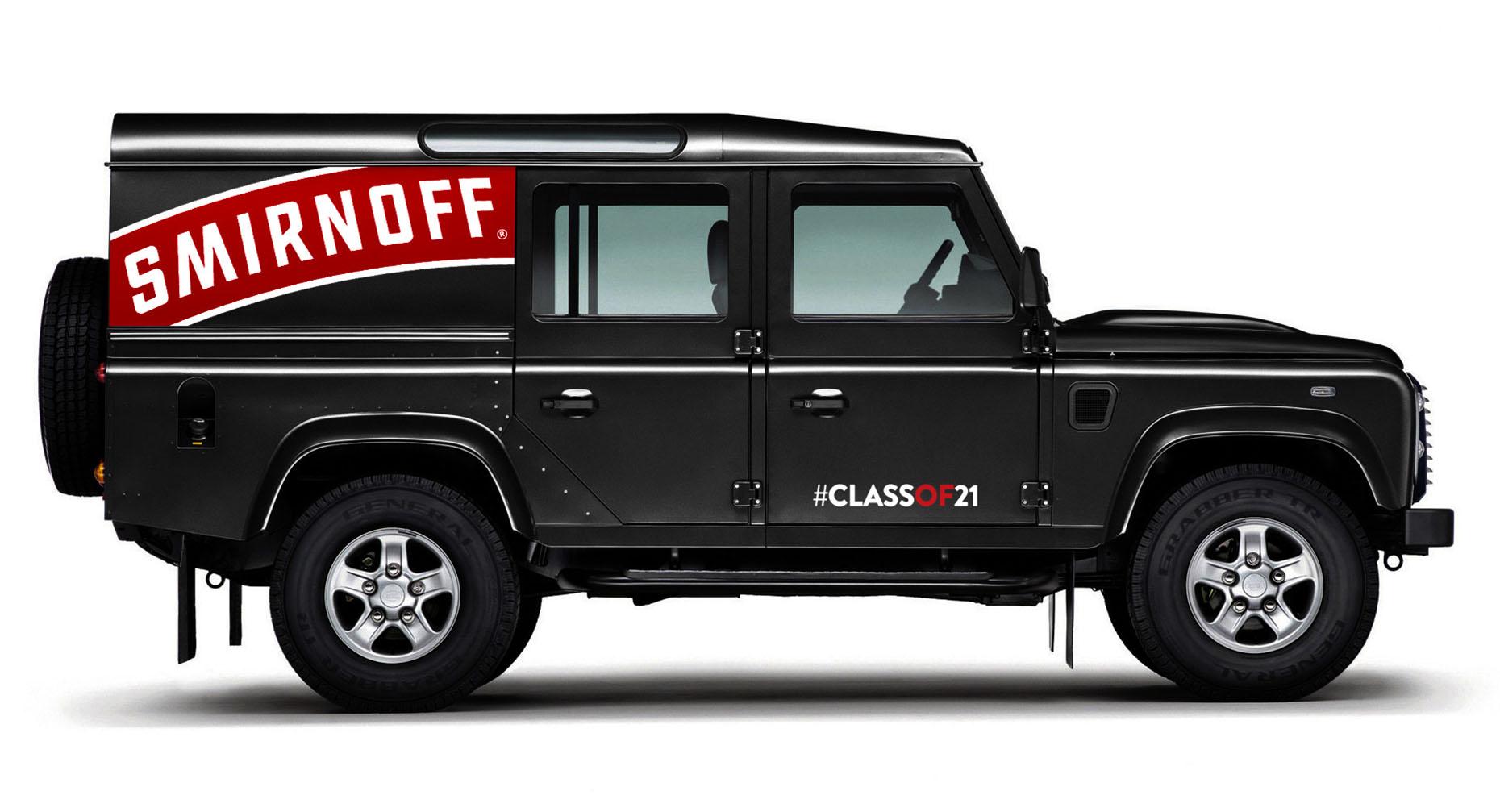 Smirnoff Vehicle Branding
